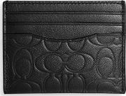 Signature Leather Embossed Card Holder
