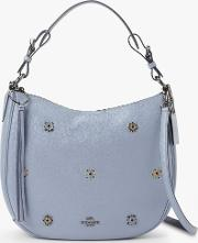 Sutton Pebbled Leather Riveted Hobo Bag