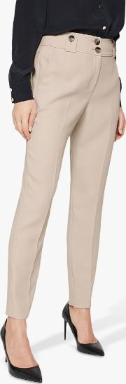 Ebony Tapered Tailored Suit Trousers