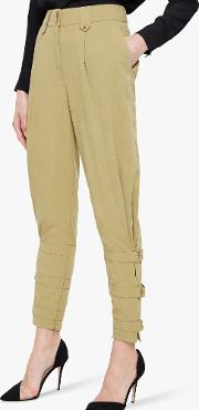 Viola Tapered Ankle Detail Trousers