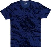 Paper Effect Camouflage Print T Shirt