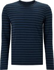 Signature Long Sleeve Stripe T Shirt, Night Sky