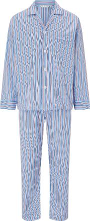 Stripe Cotton Satin Pyjamas