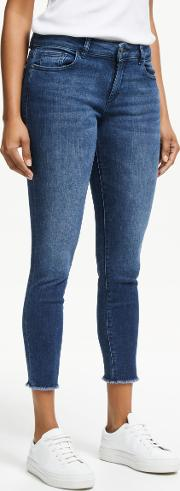 Florence Mid Rise Cropped Skinny Jeans