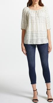 Florence Mid Rise Skinny Cropped Jeans