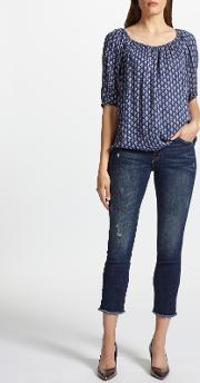 Mara Mid Rise Straight Ankle Jeans