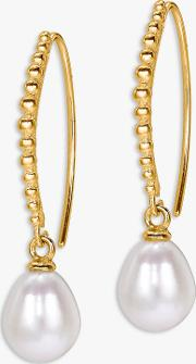Pearl Dot Drop Earrings