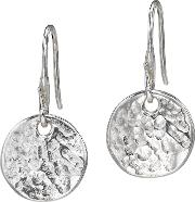 Sterling Silver Disc Drop Earrings