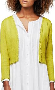 Cropped Linen Cardigan
