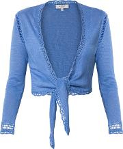Linen Tie Front Cover Up Cardigan