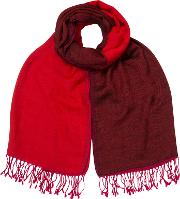 Reverse Check Wool Scarf
