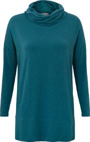 Slouchy Cowl Neck Jersey Top