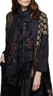 Ying Tai Pure Wool Sequinned Wrap Scarf