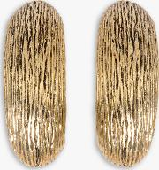 Large Textured Clip On Earrings