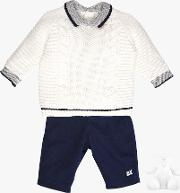 Rulph Knit Jumper, Trousers And Teddy Bear Set