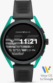 Connected Art5023 Men's Rubber Strap Touch Screen Smartwatch