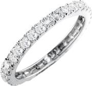 18ct White Gold Brilliant Cut Diamond Full Eternity Ring