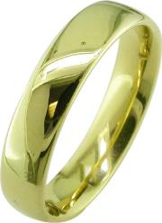 18ct Yellow Gold 5mm Larger Sized Court Wedding Ring