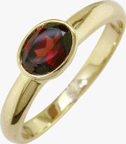 9ct Gold Rub Over Oval Ring