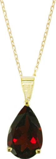 9ct Yellow Gold Teardrop Pendant Necklace