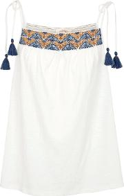 Amy Embroidered Tie Camisole