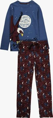Boys' Eagle Print Glow In The Dark Pyjamas