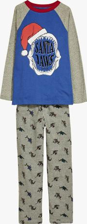 Boys' Santa Jaws Pyjamas