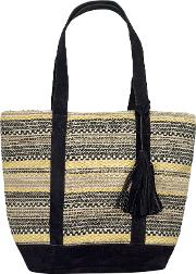 Broken Stripe Woven Shopper Bag
