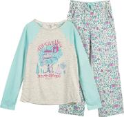 Children's Cabin Pyjamas, Oatmealmulti