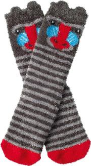 Children's Fluffy Baboon Socks