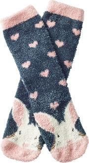 Childrens Fluffy Bunny Socks