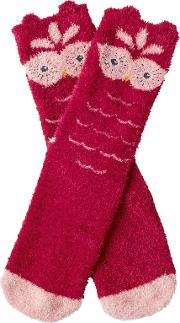 Children's Fluffy Owl Socks