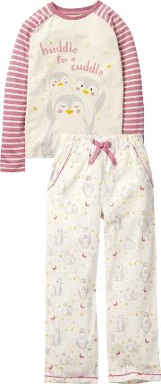 Children's Penguin Cuddle Pyjamas
