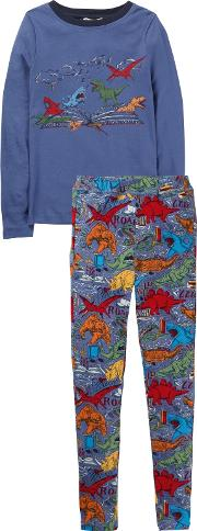 Childrens Snug Fit Dinosaur Print Pyjamas