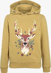 Deer Graphic Popover Hoody