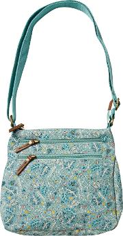 Floral Canvas Cross Body Bag