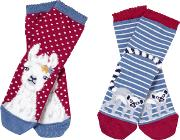 Girls' Llama Socks, Pack Of 2
