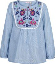 Girls' Mera Embroidered Blouse