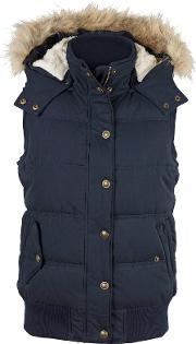 Heritage Faux Fur Trim Hooded Gilet