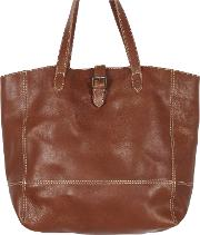 Lily Large Leather Buckle Tote Bag