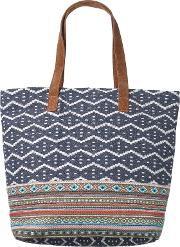 Tia Woven Shopper Bag, Blue