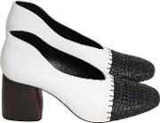 Axel Block Heeled Court Shoes