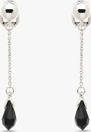b90ee84e0 Obsessory The Largest Fashion Clothes. Finesse Swarovski Crystal Chain Drop  Clip On Earrings Silver Purple