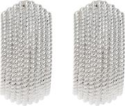 Textured Clip On Earrings