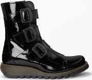 Scop Triple Buckle Ankle Boots