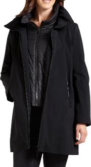 Three Quarter Jacket With Gilet Inner