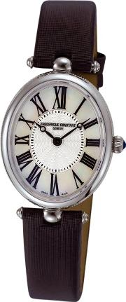 Fc 200mpw2v6 Women's Classic Art Deco Oval Leather Strap Watch