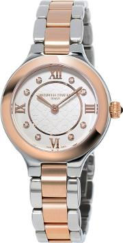 Fc 200whd1er32b Women's Classics Delight Diamond Two Tone Bracelet Strap Watch