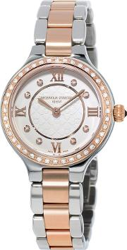 Fc 200whd1erd32b Women's Classics Delight Diamond Two Tone Bracelet Strap Watch