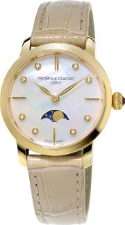 Fc 206mpwd1s5 Womens Slim Line Moonphase Watch